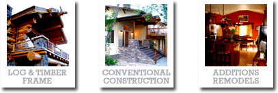 log homes, conventional construction, remodeling additions and renovations